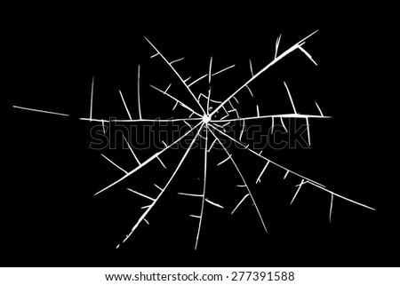 Cracked Glass Drawing Hand Draw Sketch Broken Glass