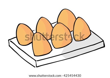 hand draw sketch of Chicken Eggs   - stock vector