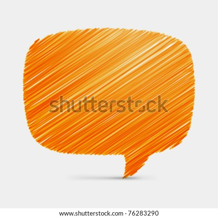 Hand draw speech bubble vector background. Eps 10, - stock vector