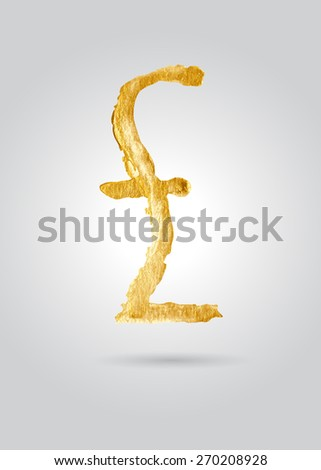 Hand drawing a pound sign in gold