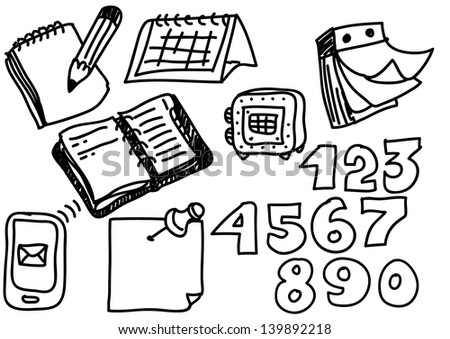hand drawing business icon - stock vector