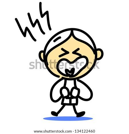 hand drawing cartoon emotions - stock vector