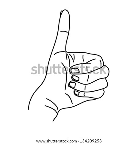 hand drawing hands illustration graphic set