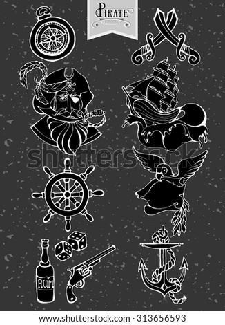 Oxygen 8 39 S Pirate Icon Set On Shutterstock