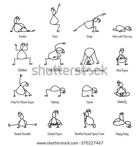 yoga cartoon stock images royaltyfree images  vectors