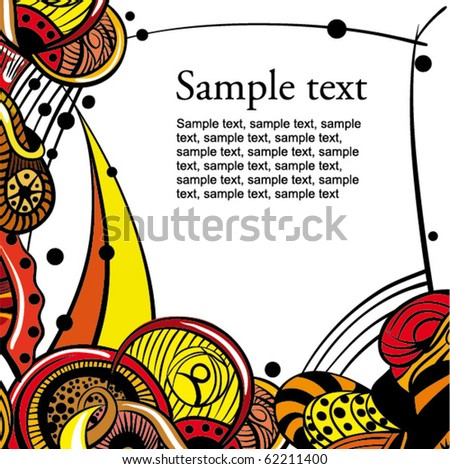 Hand-Drawn Abstract background - stock vector