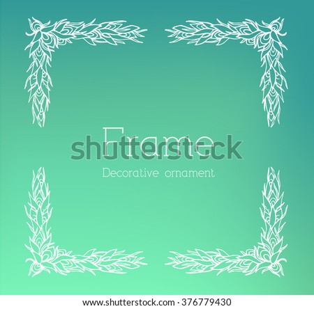 Hand drawn abstract background ornament frame on old paper illustration concept. Vector decorative retro banner of card or invitation design.  - stock vector