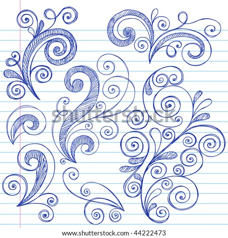 Stock images similar to id 55137790 hand drawn back to for Cool designs on paper