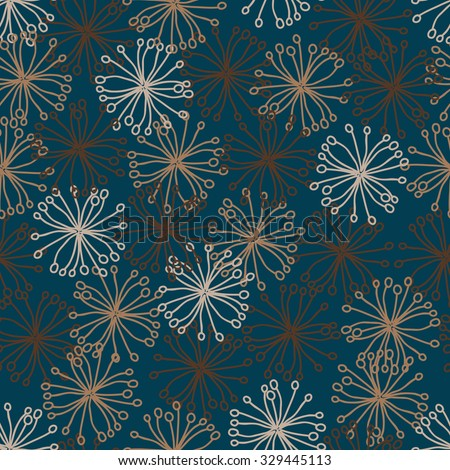 hand drawn abstract seamless pattern with clipping mask. Vector