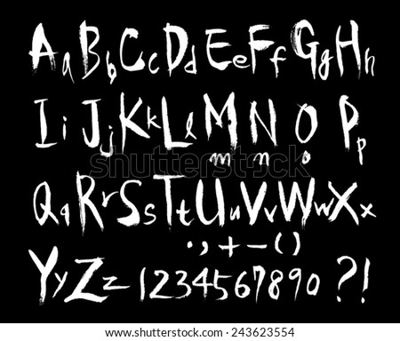 hand drawn alphabet / blackboard Version - stock vector