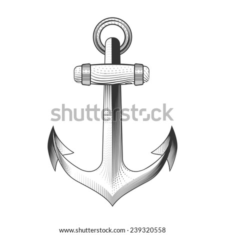 Hand Drawn Anchor, excellent vector illustration, EPS
