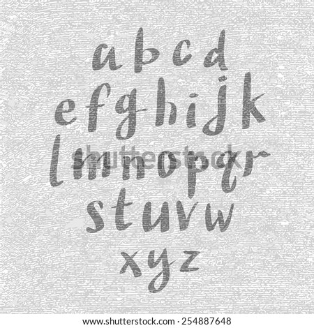 Hand drawn and sketched classic font, vector sketch style alphabet. - stock vector
