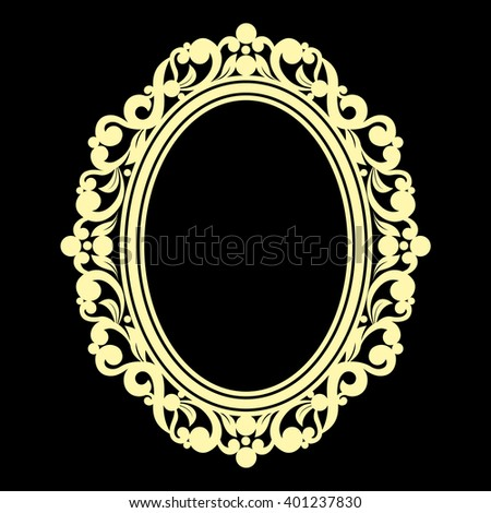 Hand drawn antique gold frame made in vector. Unique ornamental decorative cover for greeting card, wedding invitation, save the date with space for your text. Sketchy border collection - stock vector