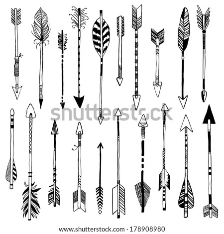 Hunting Arrows Drawing Hand Drawn 20 Arrows
