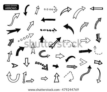 hand drawn arrows vector arrows set stock vector royalty free