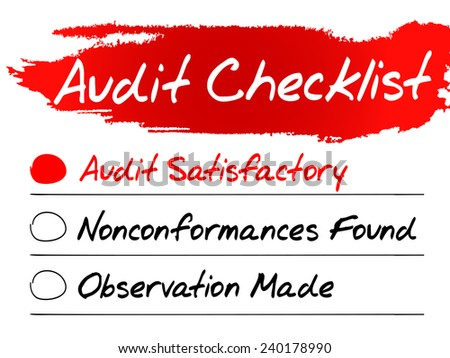 Hand drawn Audit Checklist, vector business concept - stock vector