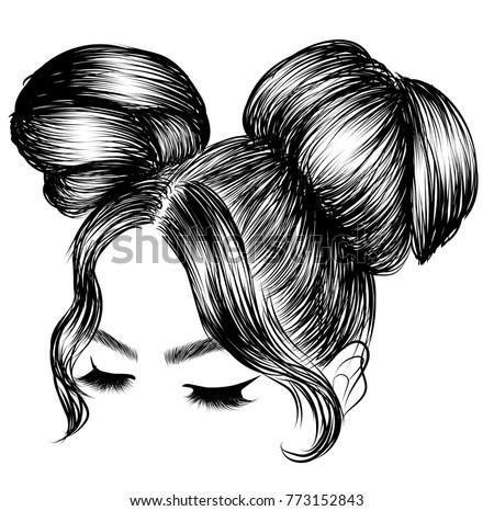 Messy Hair Bun Stock Images Royalty Free Images Amp Vectors