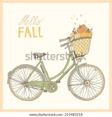 Hello Autumn Drawing Hello Fall Stock Vector