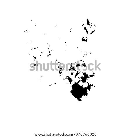 Hand drawn black ink stain. Vector illustration. - stock vector