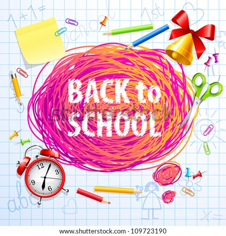 Hand drawn Bubble for speech. Back to School. Vector illustration. - stock vector
