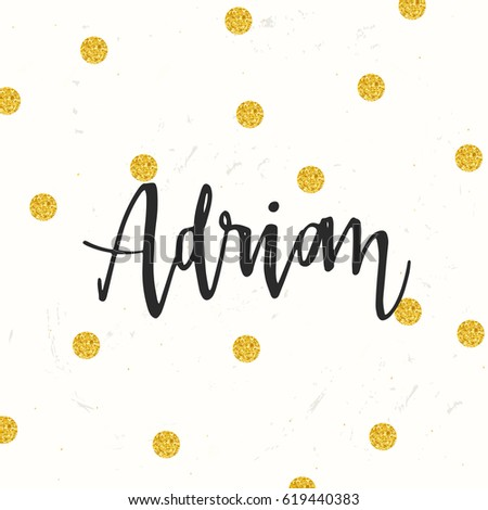 Hand Drawn Calligraphy Personal Name Adrian