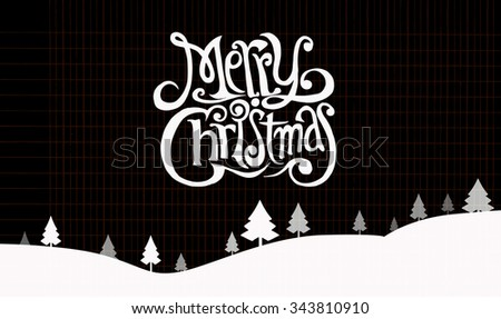 Hand drawn Christmas Greeting Card. Merry Christmas lettering, Vector illustration of Doodle