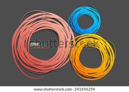 Hand drawn circles background, Eps10 vector background for your design - stock vector