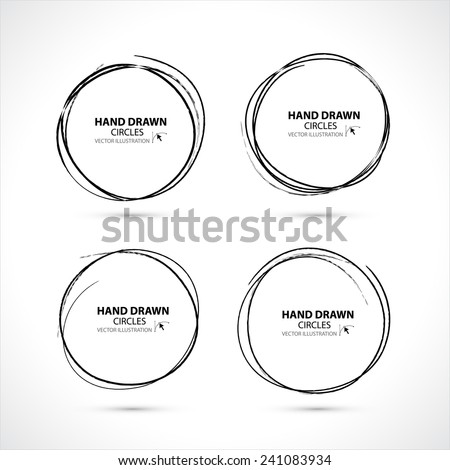 Hand drawn circles. Vector illustration - stock vector