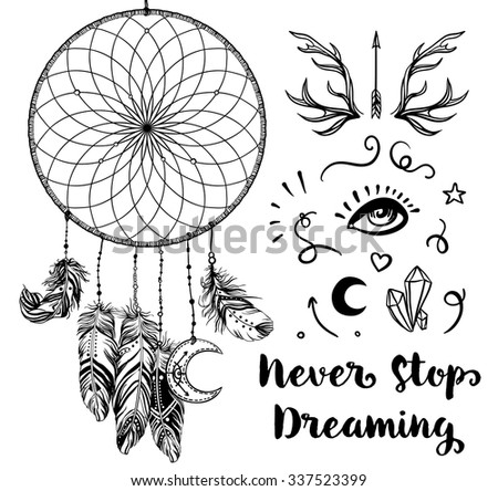 Hand Drawn Clip Art Native American Stock Vector 337523399 ...