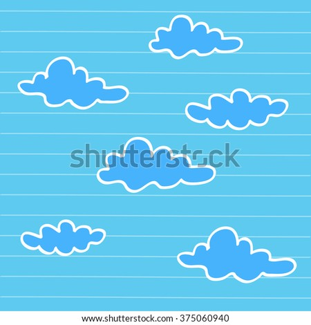 Hand drawn cloudy sky  Vector EPS10, Great for any use. - stock vector