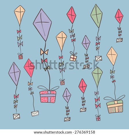 Cartoon Kite Flying Stock Images RoyaltyFree Images  Vectors