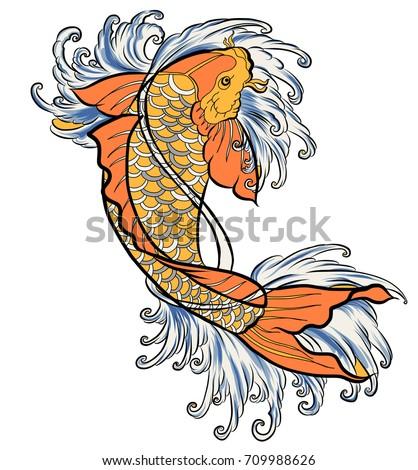 Japanese tattoo art koi