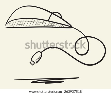 Hand drawn computer mouse illustration - stock vector
