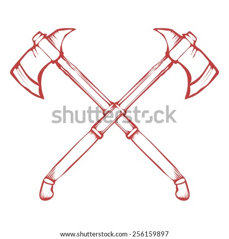 crossed axes stock images  royalty free images   vectors fireman's tools clip art fireman tools clipart