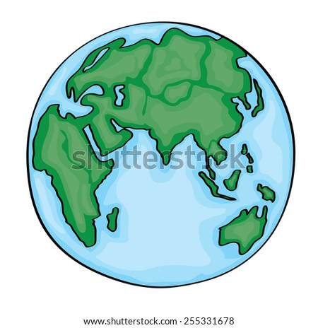 World Cartoon Drawing Hand Drawn Cute Cartoon Earth