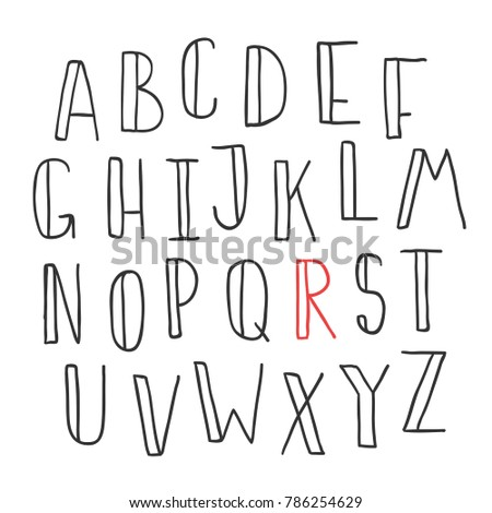 Hand drawn cute font your type stock vector royalty free 786254629 hand drawn cute font for your type design posters greeting card website banners video blogs and m4hsunfo