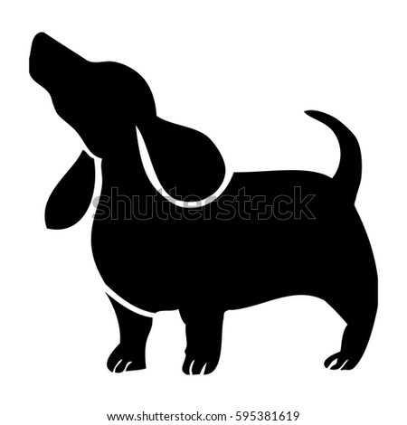 Good Black Chubby Adorable Dog - stock-vector-hand-drawn-cute-funny-wiener-or-sausage-dog-vector-with-big-floppy-ears-and-wagging-tail-fat-595381619  Perfect Image Reference_348674  .jpg