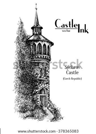 castle drawing stock images royaltyfree images amp vectors