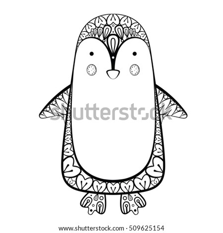 Avokishvok 39 s portfolio on shutterstock for Penguin adult coloring pages