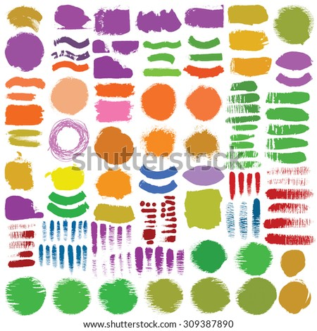 Hand drawn decorative vector brushes.Light stroke made in passing, graze, dividers, borders. Ink illustration.