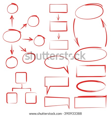 hand drawn diagram elements, infographic elements, chart template - stock vector