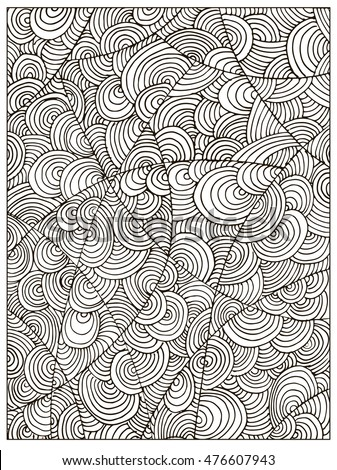 hand drawn difficult circle abstract adult coloring book page can be used as adult coloring - Coloring Pages Difficult Abstract