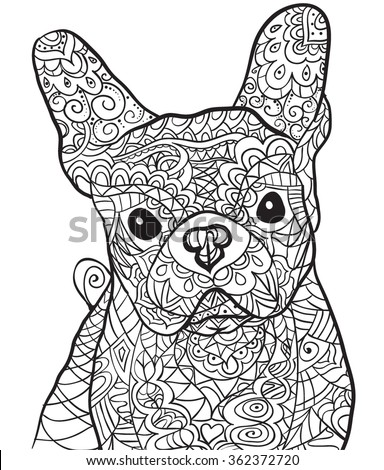 isolated on transparent background anti stress coloring page vector monochrome