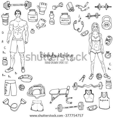 sports doodles stock photos royalty free images vectors shutterstock. Black Bedroom Furniture Sets. Home Design Ideas