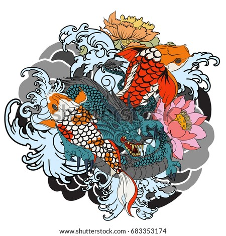 Koi stock images royalty free images vectors shutterstock for Dragon koi fish