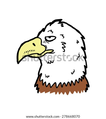hand drawn eagle - stock vector