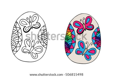butterfly easter egg coloring pages - photo#30