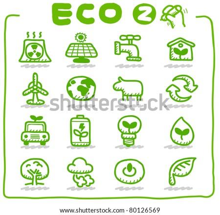 Hand drawn Eco Icon - stock vector
