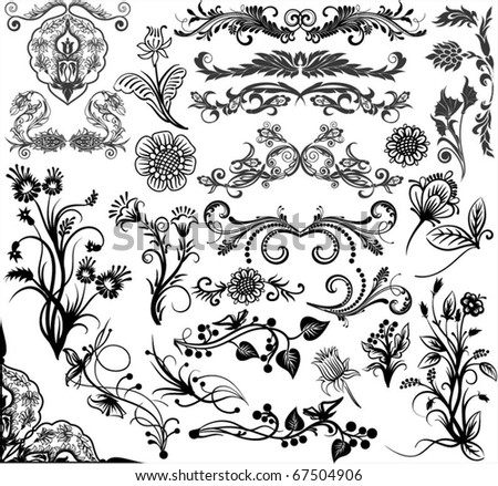 Hand-Drawn elements for design - stock vector