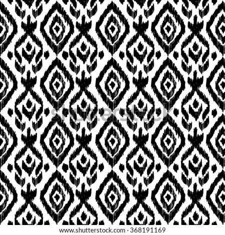 Hand Drawn Ethnic Seamless Pattern Wrapping Print Wallpaper Decor Tribal Mexican Folk